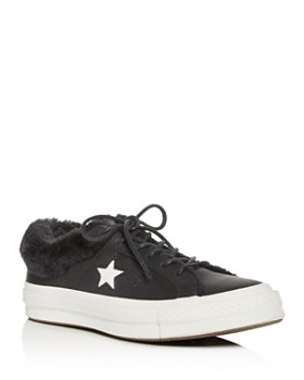 Converse - Women's One Star Faux-Fur Low-Top Sneakers