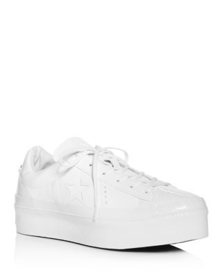 Star Lace-Up Platform Sneakers