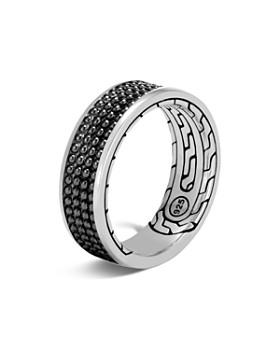 ee2da8bda JOHN HARDY - Sterling Silver Classic Chain Black Rhodium Jawan Band Ring
