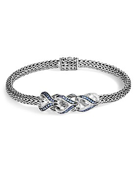 JOHN HARDY - Sterling Silver Classic Chain Blue Sapphire Slim Bracelet - 100% Exclusive