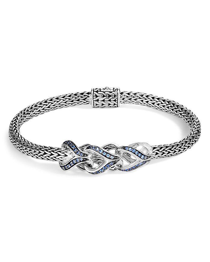 JOHN HARDY - Sterling Silver Classic Chain Blue Sapphire Slim Bracelet - 100% Exclusive