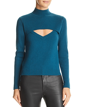 Michelle Mason Layered-Look Wool & Cashmere Sweater