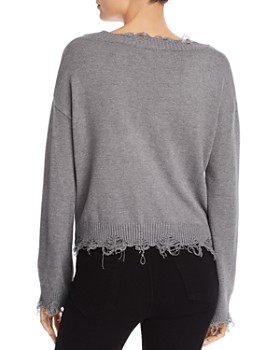 Honey Punch - Distressed V-Neck Sweater