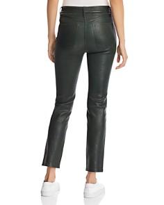 rag & bone/JEAN - Leather Ankle Cigarette Pants