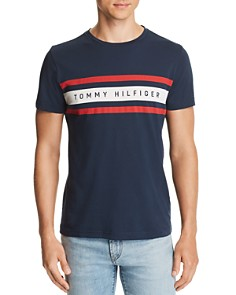 Tommy Hilfiger Logo Stripe Graphic Tee - Bloomingdale's_0