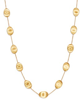 """Marco Bicego - 18K Yellow Gold Lunaria Station Necklace, 36"""""""