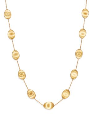 Marco Bicego 18K Yellow Gold Lunaria Station Necklace, 36