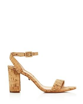 SCHUTZ - Women's Bebethy Cork Ankle Strap Sandals