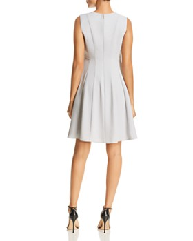 Donna Karan - Sleeveless Stud Detail Fit-and-Flare Dress
