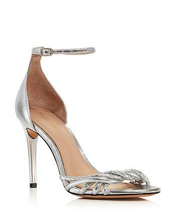 Rachel Zoe - Women's Aubrey Metallic Leather High-Heel Sandals
