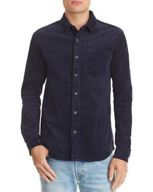 BANKS Roy Regular Fit Corduroy Shirt in Dirty Denim