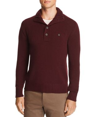 OOBE Rutledge Chest-Pocket Pullover Sweater in Pinot
