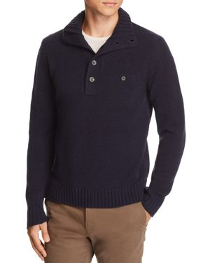 OOBE Rutledge Chest-Pocket Pullover Sweater in True Navy