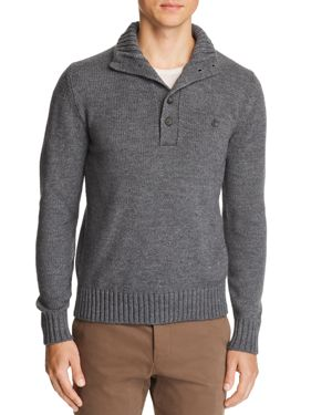 OOBE Rutledge Chest-Pocket Pullover Sweater in Heather Gray
