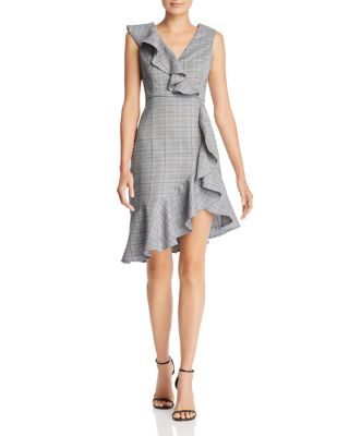 Ruffle Plaid Dress   100 Percents Exclusive by Aqua