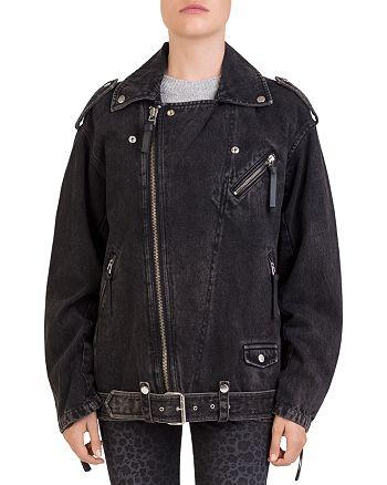 The Kooples - Beaded Denim Moto Jacket