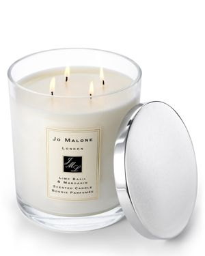 JO MALONE LONDON Lime Basil & Mandarin Scented Luxury Candle, 2500G in Colorless