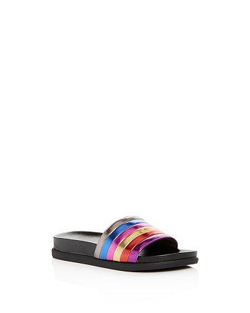 01949f93eec3 STEVE MADDEN Girls  JCambi Rainbow Pool Slide Sandals - Little Kid ...