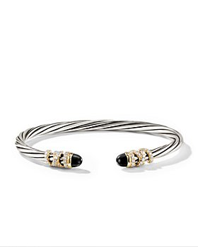 David Yurman - Sterling Silver Helena End Station Bracelet with 18K Gold, Gemstones & Diamonds