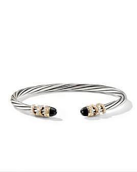 David Yurman - Sterling Silver Helena End Station Bracelet with 18K Gold, Gemstones & Diamonds