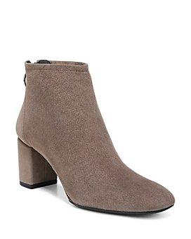 Via Spiga - Women's Noel Suede Block Heel Booties - 100% Exclusive