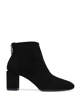 Via Spiga - Women's Noel Suede Block Heel Booties - 100% Exclusive