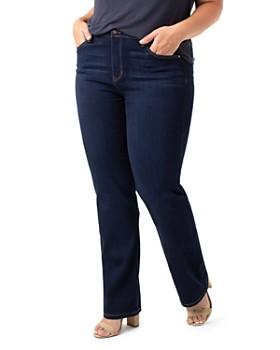Liverpool Plus - Sadie Straight Jeans in Stone Wash