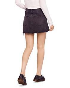 Free People - Zip It Up Denim Mini Skirt