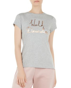 Ted Says Relax Janetia World Domination Tee, Gray