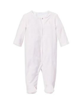 Ralph Lauren - Girls' Striped Velour Footie - Baby