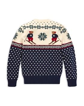 Ralph Lauren - Boys' Polo Bear Intarsia Sweater - Big Kid