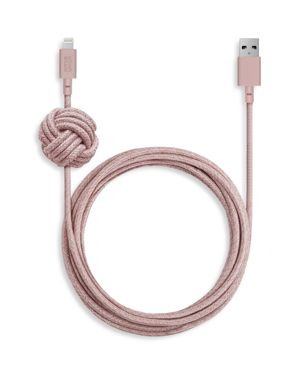 NATIVE UNION 10-Foot Rose Charging Cable in Rose Pink