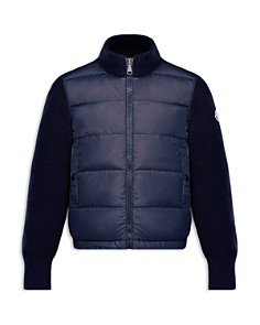 Moncler Boys' Knit & Quilted Down Jacket - Big Kid - Bloomingdale's_0