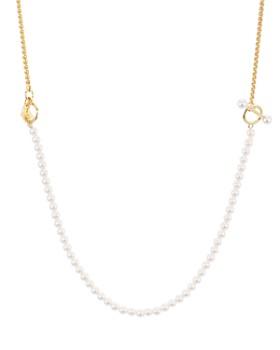 "Rebecca Minkoff - Faux Pearl Adjustable Chain Necklace, 24"""
