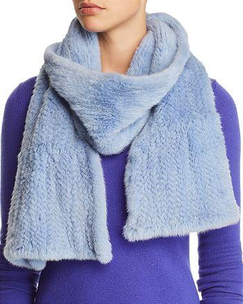 Maximilian Furs - Ruffled Mink Fur Knit Scarf - 100% Exclusive