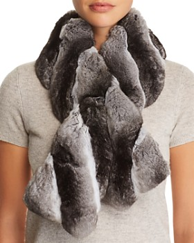 Maximilian Furs - Chinchilla Fur Pull-Through Scarf - 100% Exclusive