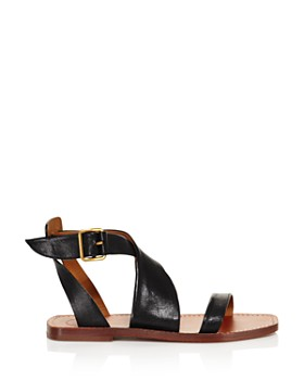 Chloé - Women's Virginia Leather Ankle Strap Sandals