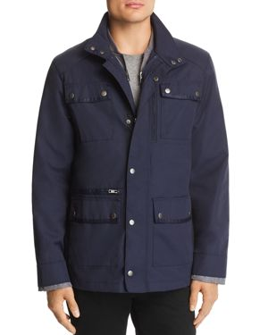 WRK Ethan Coat With Quilted Warmer in Navy