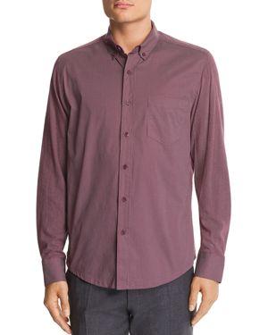 Wrk Reworked Dot-Print Slim Fit Button-Down Shirt