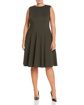Lafayette 148 New York Plus - Topenga Fit-and-Flare Dress