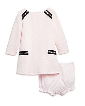 Pippa & Julie - Girls' Textured Zipper Shift Dress & Bloomers Set - Baby
