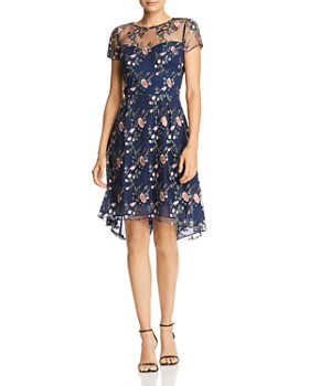 Adrianna Papell - Autumn Garden Embroidered Dress
