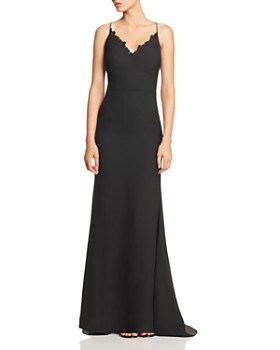 Jarlo - Joleen Lace-Trimmed Gown