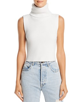Alice and Olivia - Darcey Cropped Turtleneck Sweater