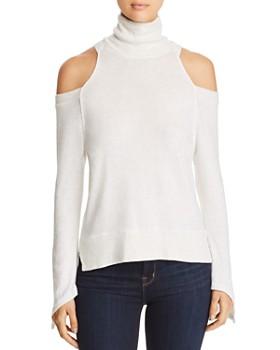 Red Haute - Cold-Shoulder Turtleneck Sweater