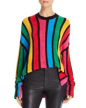 SHOW ME YOUR MUMU Rainbow Parade Pleat Sweater in Black