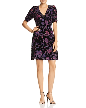 Rebecca Minkoff Arlette Botanical Burnout Velvet Dress