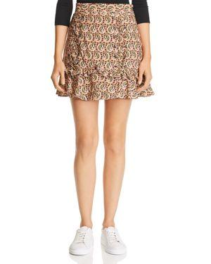 The East Order Alix Ruffled Paisley A-Line Mini Skirt
