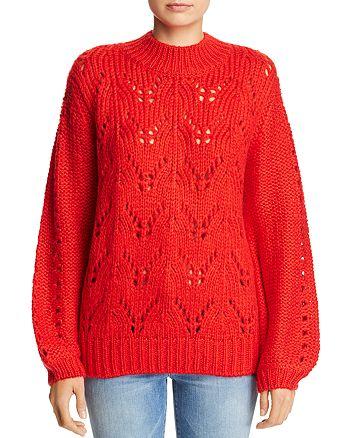 John and Jenn - Open-Knit Sweater