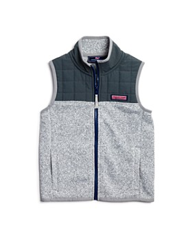 Vineyard Vines - Boys' Quilted Fleece Vest - Little Kid, Big Kid